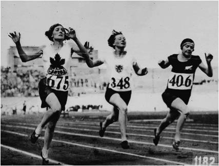 Carrera de 100 metros lisos en Amsterdam, 1928. Fuente: Píkara Magazine.