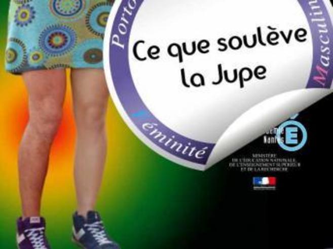 Cartel de la campaña 'Ce que souleve la jupe'.