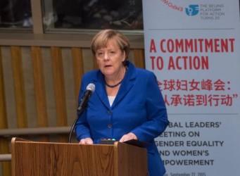 Imagen del Angela Merkel en la ONU