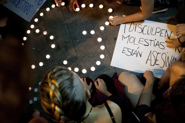 Imagen de una protesta contra violencia de género