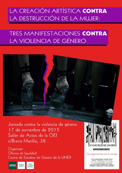 Cartel de la Jornada, con una imagen de unos pies con enormes tacones