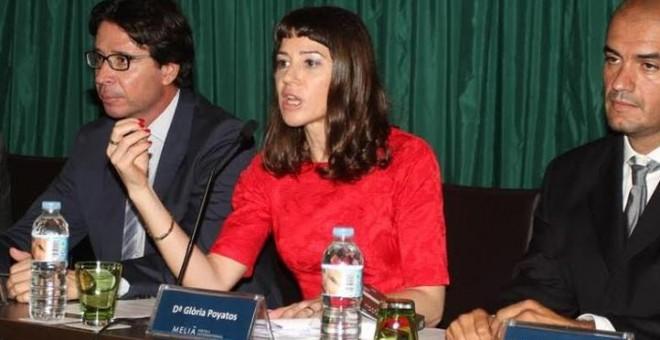 Imagen de la jueza Poyatos en unas jornadas