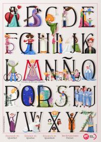 Campaña abecedario frases mujeres