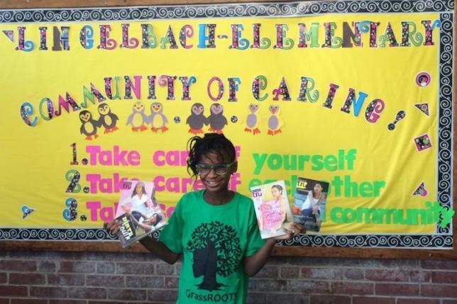 Imagen de la joven impulsora de la campaña