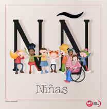 Imagen de las letras N y Ñ del diccionario de Igualdad