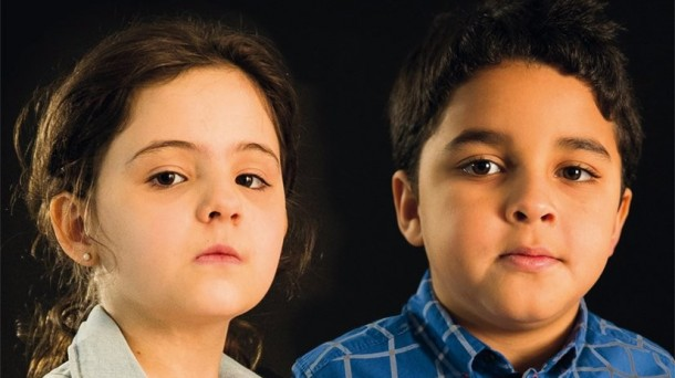 Imagen del cartel de la campaña, con un niño y una niña