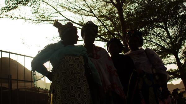 Mujeres de Malí que no muestran sus caras