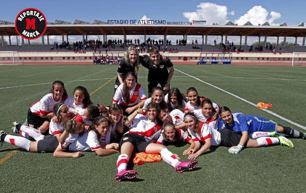 Imagen del equipo de fútbol femenino