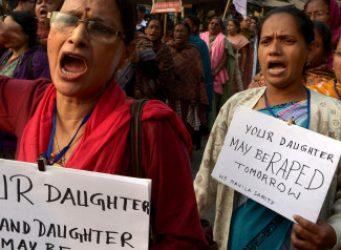 imágenes de una manifestación en India