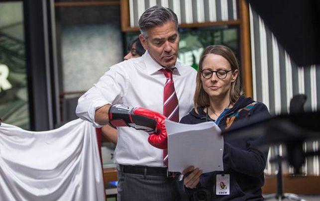 Imagen de la directora con George Clooney