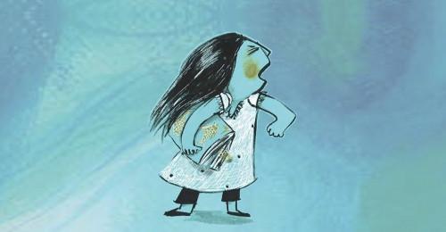 Ilustración de uno de los cuentos