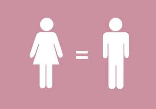 Imagen esquema de una mujer = un hombre