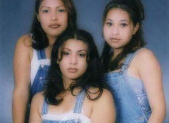 Imagen de tres jóvenes chicanas