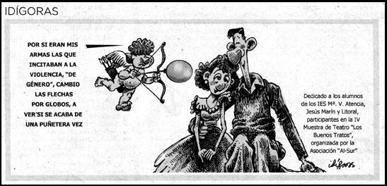 Viñeta de agradecimiento del dibujante Idígoras