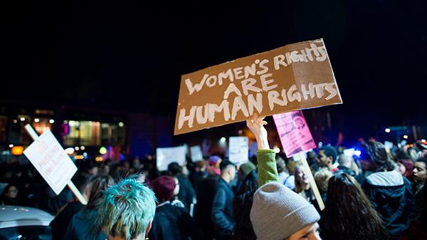 Imagen manifestación contra Trump