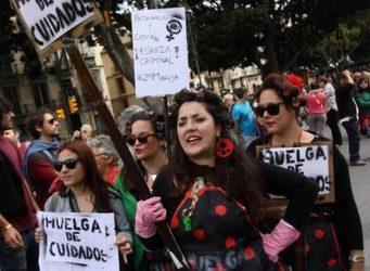 imagen de manifestación del 8 de marzo