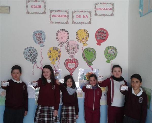 Los alumnos participantes del Club de Igualdad