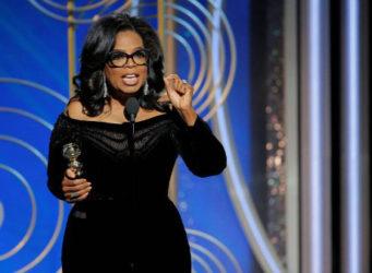 Imagen de Oprah en su discurso