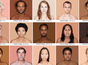 fotografías por colores del proyecto Humanae