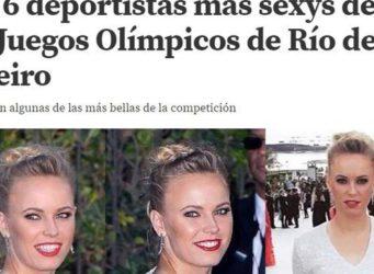portada de medio deportivo con fotos de deportistas atractivas