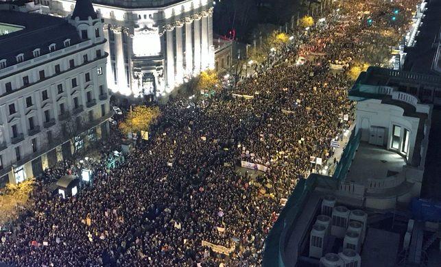 Imagen de la manifestación de Madrid