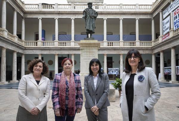 Imagen de las cuatro rectoras de Universidad españolas