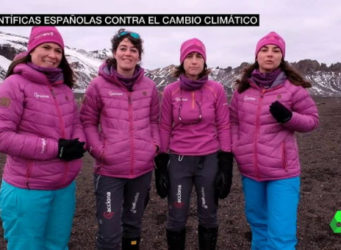 imagen de las científicas españolas en la Antártida
