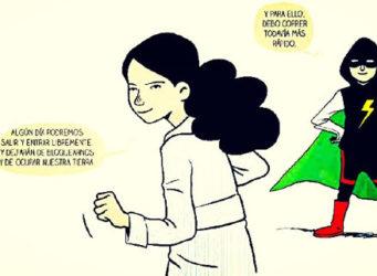 Imagen del cómic sobre las mujeres valientes de Gaza