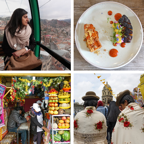 collage de imagenes de la autora del artículo tomadas en La Paz