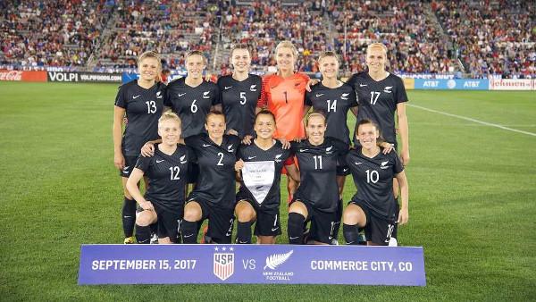 Imagen de la selección femenina neozelandesa