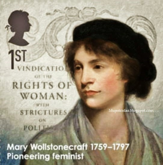 Sello conmemorativo dedicado a Mary Wollstonecraft