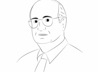 Dibujo de Cesar Chelala, autor del artículo
