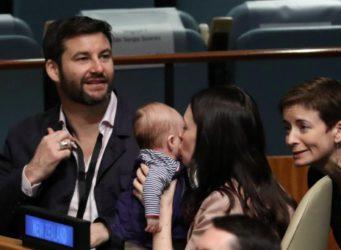 Imagen de la primera ministra Ardern con su bebé en la ONU