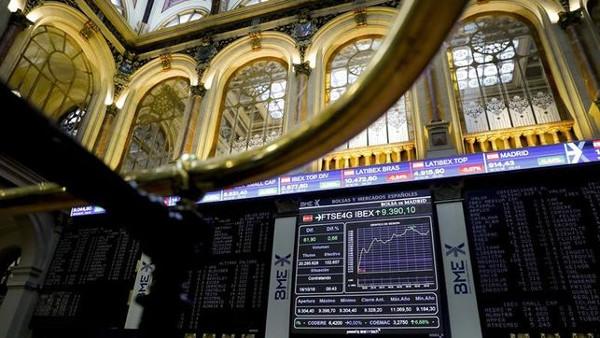 imagen de una pantalla con los índices de la Bolsa