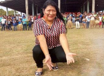 Imagen de la diputada indígena Joenia Wapichana