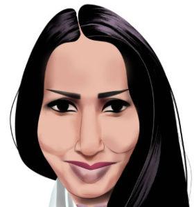 Dibujo de Manal al Sharif