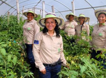 Un grupo de mujeres trabajadoras de El Salvador
