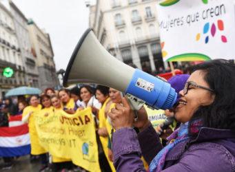 Imagen de la Manifestación de empleadas hogar