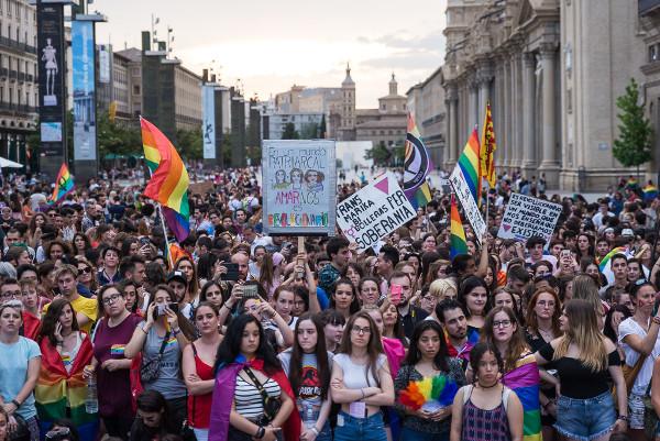 Manifestación Orgullo 2018 en Zaragoza