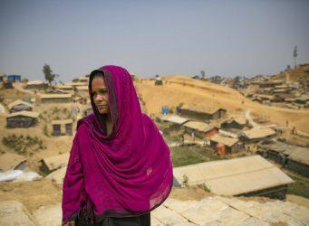 Imagen de una refugiada rohingya