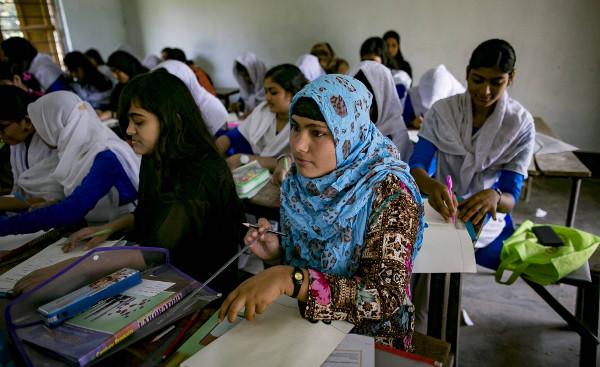 alumnas de una escuela de Banglades