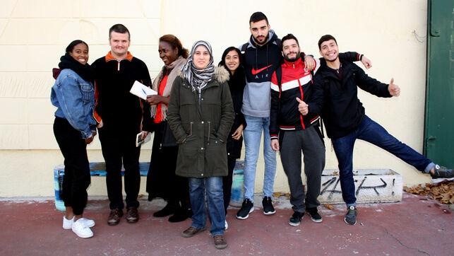 Un grupo de alumnos del CEAPA Ciudad Lineal de Madrid