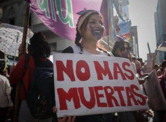 imagen de una manifestación en Argentina el 25 N