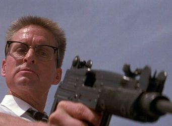 Imagen de Michael Douglas en la película Un día de furia
