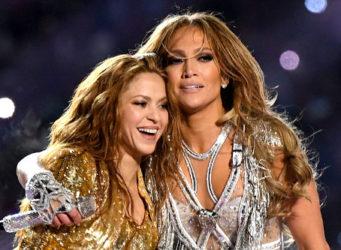 Imagen de Shakira y JLo en el concierto