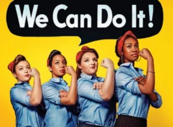 Cartel We can do it con varias mujeres de diferentes razas
