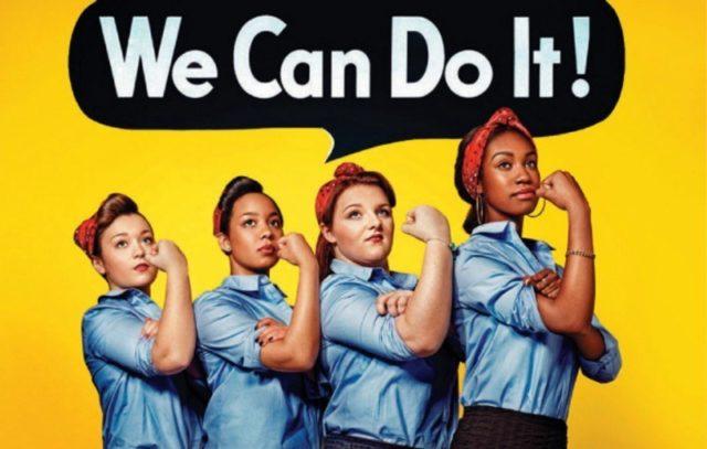 Cartel We can do it con varias mujeres de diferentes razas