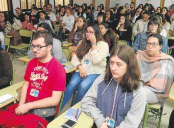Una imagen del encuentro de institutos