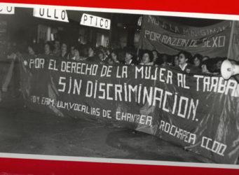 Manifestación feminista hace 42 años