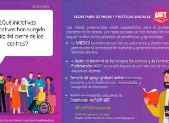 cartel sobre las iniciativas
